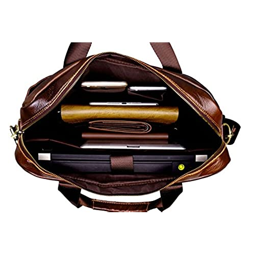 7f1d35abefac good POLO VIDENG M278 Men s Classic Top Cow Genuine Leather Business  Handbag Briefcase Shoulder Messenger Satchel