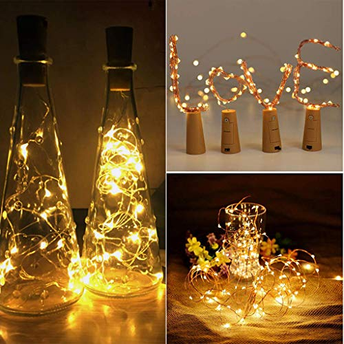 Euone Clearance Sales, 12Pcs Cork Shaped LED Night Light Starry Light Wine Bottle Lamp For Party Decor (Yellow)