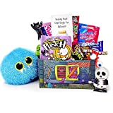 Happy Haunting! Fun Halloween Candy and Toy Gift Basket for College Kids Military Loved Ones - Care Package