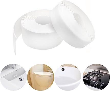 Caulk Strip Pe Self Adhesive Tape For Bathtub Bathroom Shower Toilet Kitchen And Wall Sealing W 38mm L 11ft Amazon Com