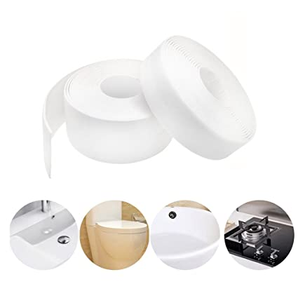 Caulk Strip PE Self Adhesive Tape For Bathtub Bathroom Shower Toilet  Kitchen And Wall Sealing,