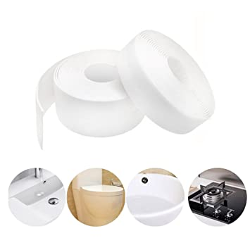 Newsheep 1 Caulk Strip Pe Self Adhesive Tape For Bathtub Bathroom