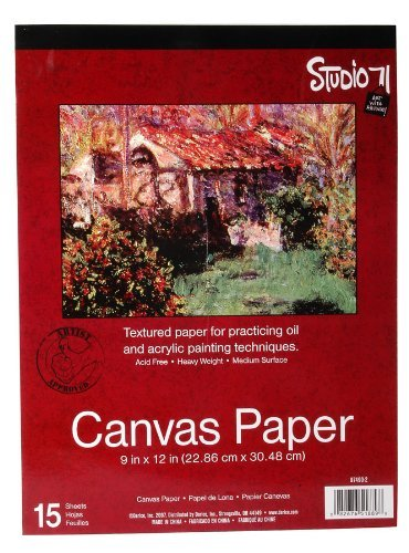 Darice Studio 71 Canvas Paper Pad Heavy Weight Medium Surface 9X12 Inches (3 Pack)