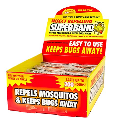 SUPERBAND 400 Pack All Natural Mosquito Repellent Bracelets - Guaranteed to Work - No Messy Lotions, Sprays, or Plastic - Fast & Easy! 30 Day Money Back Guarantee by Superband (Image #6)