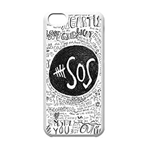 Diy iPhone 6 plus Sophisticated Design Slim Hard Plastic Back Protective Case Shell Cover with Image for iPhone 6 plus - Band6 plusOS 5 Second of Summer -White 022701