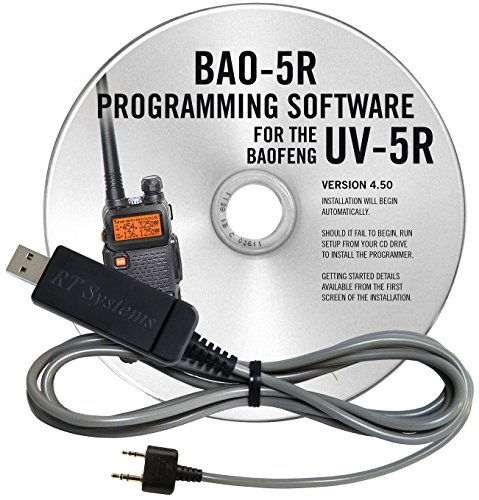 RT Systems BAO-5R Programming Software and USB-K4Y Cable for the  Baofeng/Pofung UV-5R and UV-5RA