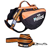 DogHelios Freestyle 3-in-1 Explorer Convertible Backpack, Harness and Leash, Large, Orange