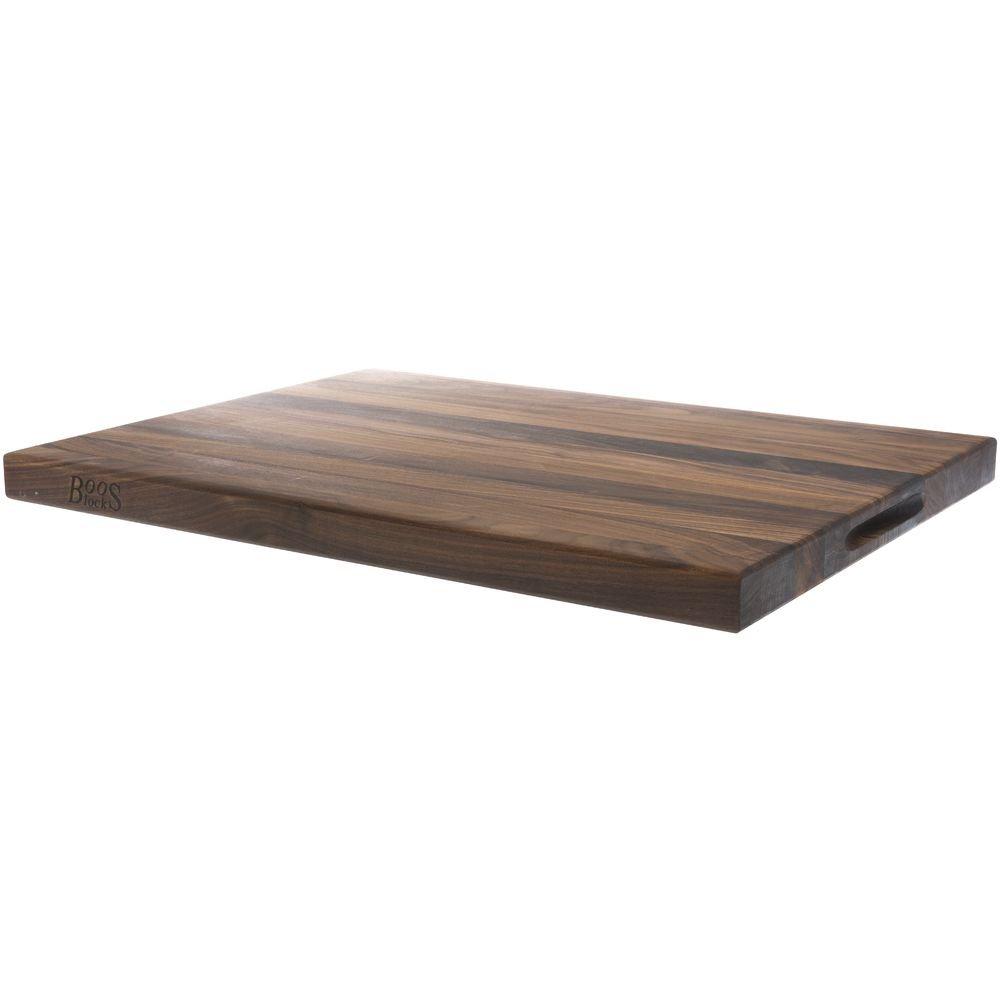 John Boos & Co. Reversible Walnut Cutting Board , Black