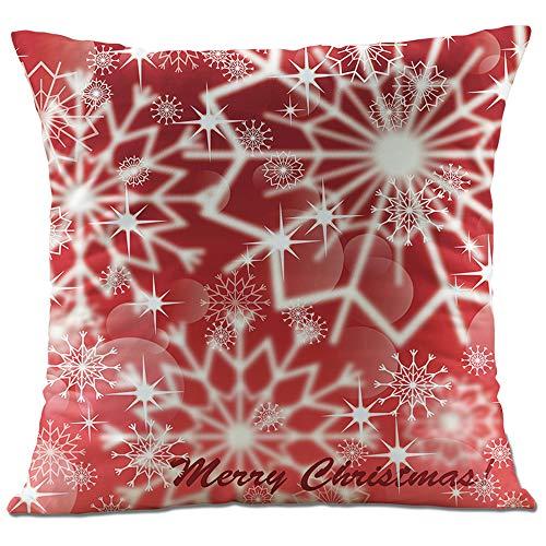 Hangood Fundas de Cojín Almohada Decoración Sofá Coche Cama Navidad Xmas Ball Snowflake Conjunto de 4 Piezas Peluche Suave 45cm x 45cm: Amazon.es: Hogar