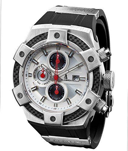 Calabria   Armato Opaco   White Dial Men Watch With Carbon Fiber Bezel