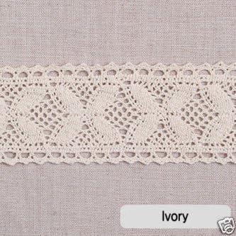 1yard Broderie Anglaise algodón encaje Crochet Trim 5 cm yh024 ...