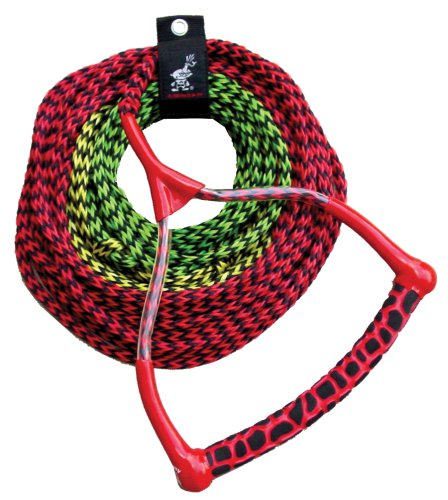 AIRHEAD Ski Rope, 3 Section, Radius Handle (Water Tow Ski Rope)