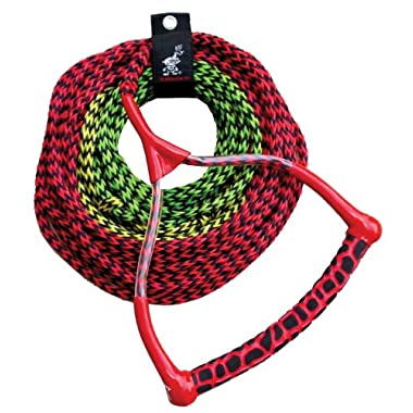 AIRHEAD AHSR-3, 3-Section Water Ski Rope with Radius Handle and EVA Grip
