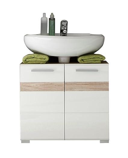 Trendteam Badezimmer Waschbeckenunterschrank Unterschrank Set One