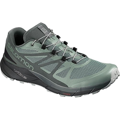 Cheap Salomon Sense Ride GTX Invisible Fit Trail Running Shoes – Men's Balsam Green/Urban Chic/Monument 11.5