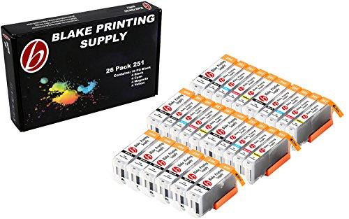 26 Pack Blake Printing Supply CLI-251XL 251 XL PGI-250XL 250