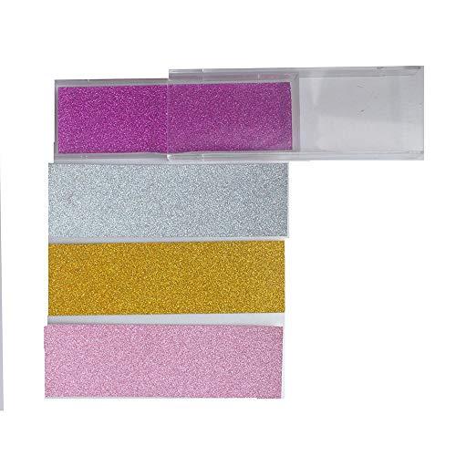 - Set of 4 lash Box Transparent Plastic Box Eyelash Packaging with Color Card