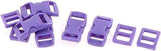DealMux Side Sortie Buckles Tri Gide Buckle 11mm Largeur du Bracelet 10 en 1 Violet