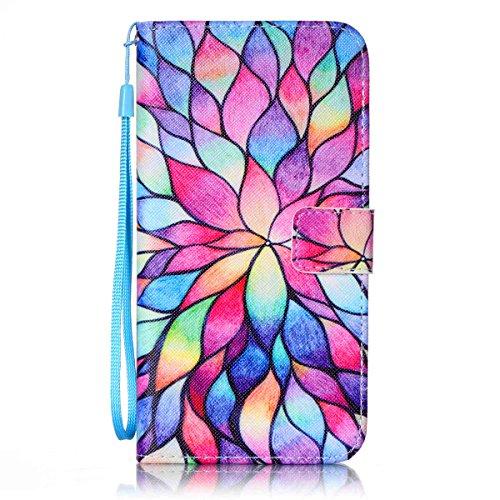 iPhone 8 Plus Wallet Case, iPhone 7 Plus Case, JanCalm [Wrist Strap] [Kickstand] Pattern Premium PU Leather Wallet [Card/Cash Slots] Flip Cover for iPhone 7/8 Plus (5.5 Inch) + Crystal Pen