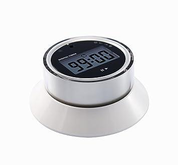 Nuevo Digital LCD temporizador cocina temporizador de cuenta regresiva alarma de reloj. blanco