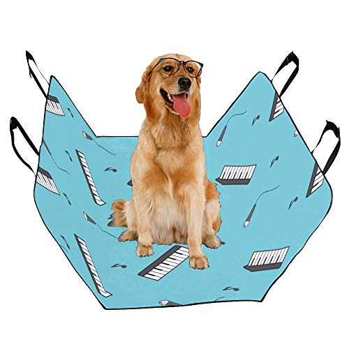 MOVTBA Fashion Oxford Pet Car Seat Electronic Piano Instrument Creativity Waterproof Nonslip Canine Pet Dog Bed Hammock Convertible for Cars Trucks SUV