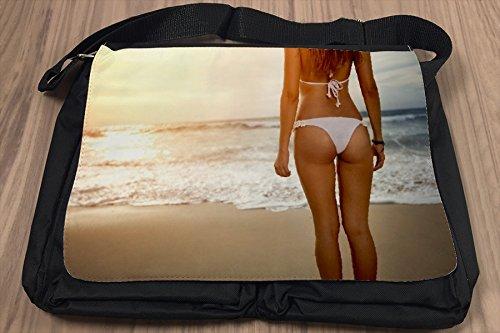 Borsa Tracolla Bar Ristorante Bikini di tramonto Stampato