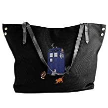 Doctor Who Cats Women's Handbags Ladies Canvas Shoulder Bag Fashion Totes Messenger Bags