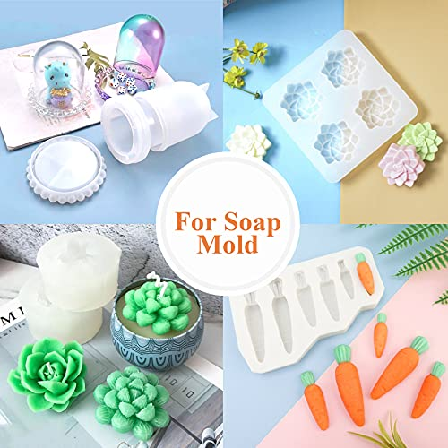 Teexpert Silicone Mold Making Kit, Liquid Translucent Silicone Rubber Molds Making Set 1:1 Mixing Ratio for DIY Epoxy Resin Casting Jewelry Crafts Art Manual Making Molds - 21.16OZ