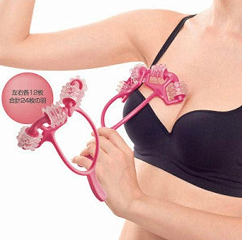 Tone Breast - DAHOC 24 Cells Massager Bust Breast Roller Massage Enhancer Breast Roller with Handle to Firm Tone & Lift the Bust