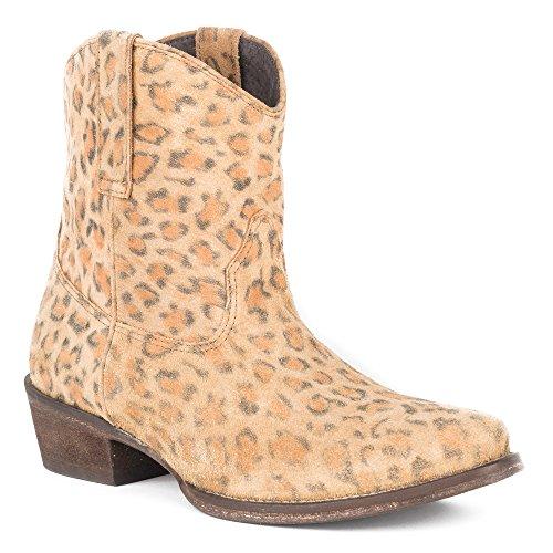 Roper Femmes Cheeta Travail Boot Tan Guépard Impression En Cuir