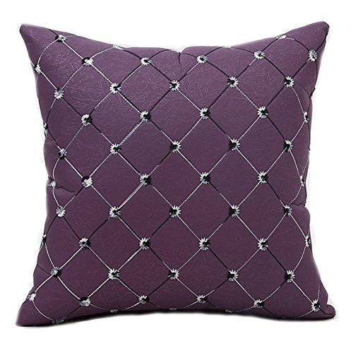 Famibay Square Modern Diamonds Shape Throw Pillow Case Geome