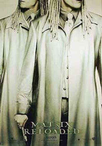 The Matrix Reloaded Single-Sided Reprint Advance The Twins 27X41 New Keanu Reeves Laurence Fishburne Carrie-Anne Mos -