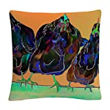 Trademark Fine Art Color Series Four Clucks Green' Animals Pets Painting Bold by Pat Saunders-White,