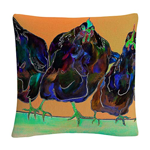 Trademark Fine Art Color Series Four Clucks Green' Animals Pets Painting Bold by Pat Saunders-White, by Trademark Fine Art
