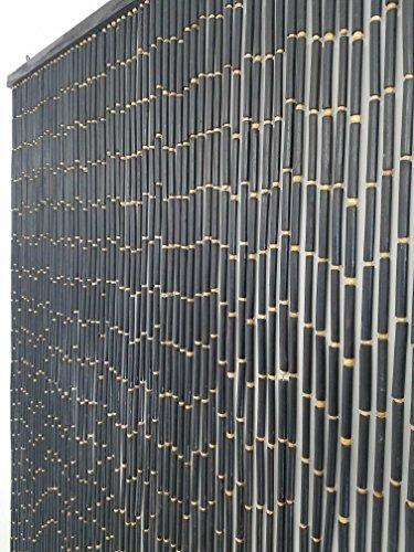 EVIDECO 5501392 Wooden Sticks Beaded Curtain Doorway 65 Strings Dark Brown 78.8