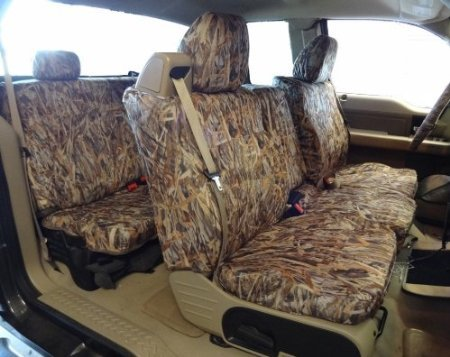 Exact Seat Covers, FD9 SA-C, 2004-2008 Ford F150 XLT Super Cab Complete Front and Rear Seat Set Custom Exact Fit...