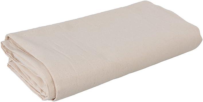 Silverline 434491 Lona de protección de sarga de algodón, Blanco ...