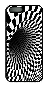 Checkerboard Tunnel HAC1014096 Custom PC Hard For Iphone 6 Plus Phone Case Cover Black