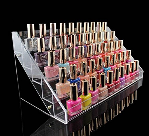 1-Pcs Pleasantness Popular Hots Nails Polish Organizers Cube Box Storage Makeup Lip Gloss Display Color Transparent 5 Tier Style (Clown Makeup Styles)