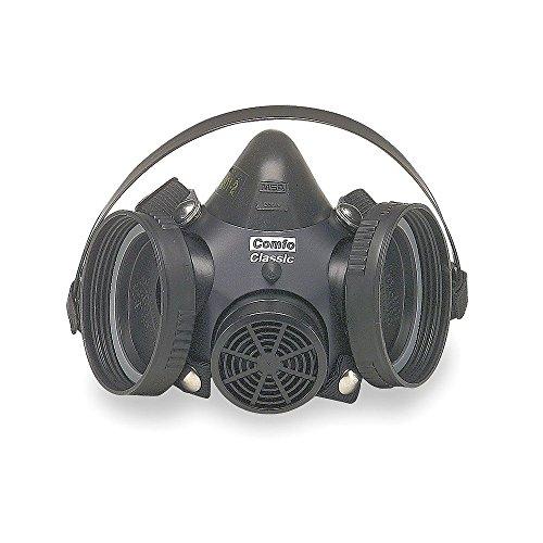 MSA 808057 Comfo Classic Half-Mask Facepiece Respirator, Small, Black