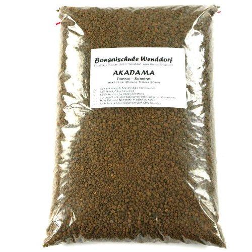 Akadama, bonsai soil, 2 liter, double line brand, fine