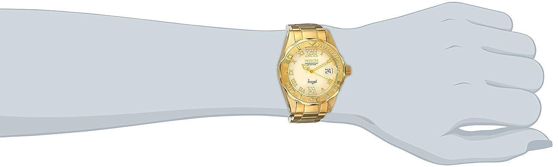 Amazon.com: Invicta Womens 14397 Angel Analog Swiss-Quartz Gold Watch: Invicta: Watches