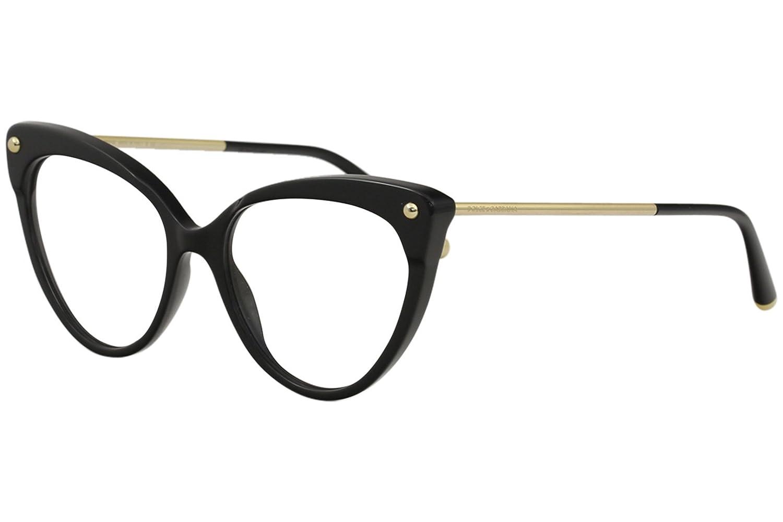 a20af1f8c4 Amazon.com  Dolce   Gabbana Eyeglasses D G DG3291 DG 3291 501 Black Gold  Optical Frame 54mm  Clothing