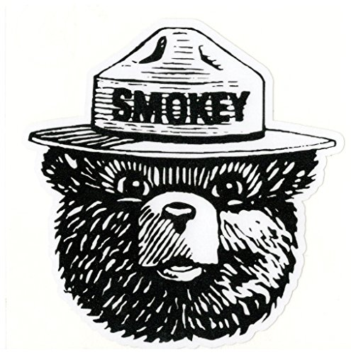 [Smokey The Bear Vinyl Decal Sticker|Cars Trucks Vans Walls Laptops|Full Color|4.5 In|KCD756] (Cleveland Costumes)