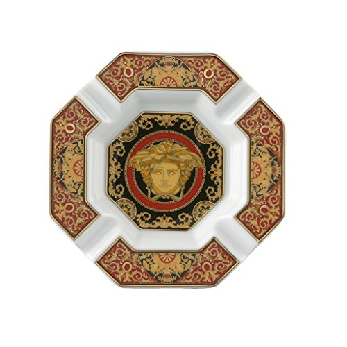 Versace by Rosenthal Medusa Red 5-1/2-Inch Ashtray (Rosenthal Medusa Red Gift)
