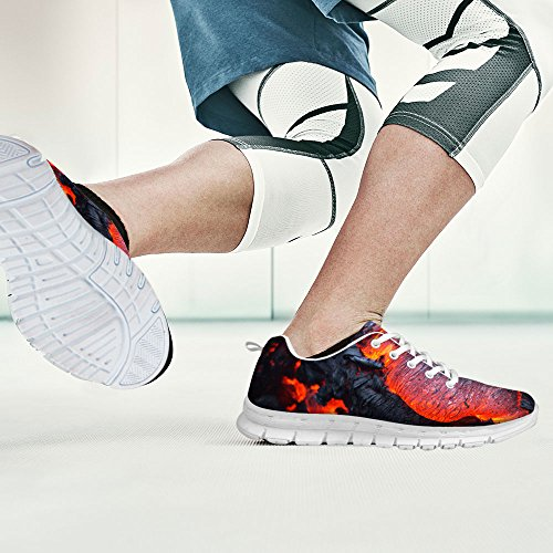Pour U Conceptions Mode Unisexe Flex Gusto Runner Maille Respirant Train Sneaker Chaussures De Course Gris 2