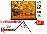 Royality Industries Tripod Stand Projector Screen (6 Ft. (Width) x 4 Ft. (Height) - 84') Diagonal in 4:03 Ratio Aspect, Ultra HD, 4K Technology, Active 3D ...