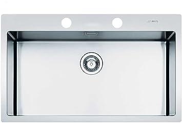 Relativ Smeg LFT77RS Edelstahl-Spüle satiniert Küchenspüle Spülbecken groß WF16
