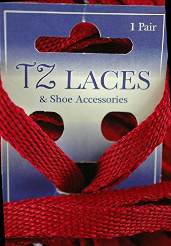 TZ Branded Flat 3/8 (10mm) Fashion Trainers Plimsoles Boots Shoe & Skate Boot Laces Red 5o2AN