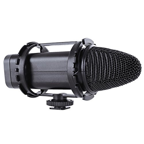 Broadcast Grade Shotgun Microphone (Bower MIC500 Professional DSLR/Video HD Broadcast Cardioid Condenser Microphone (Black))